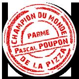 Pascal Poupon, champion de monde de la pizza à Parme