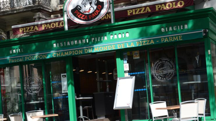 Devanture de la pizzeria à Chalon sur Saône